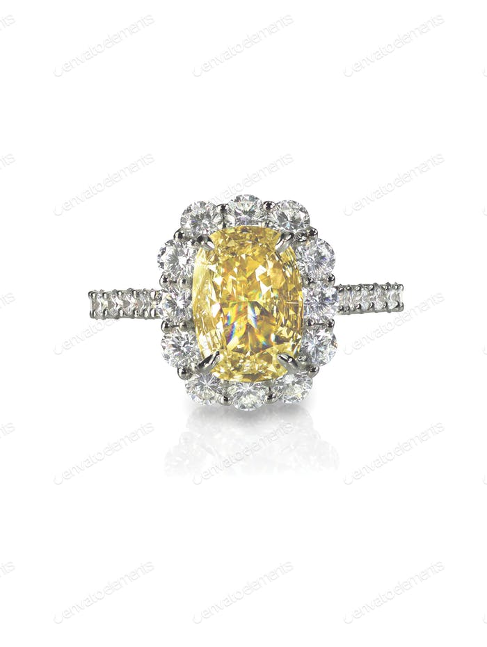 yellow diamond colored engagement wedding bridal ring topaz citrine