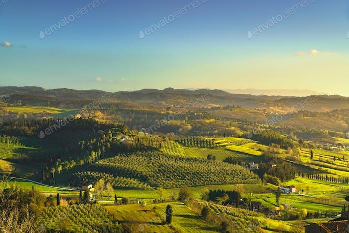 San Miniato countryside. Pisa, Tuscany Italy Europe.