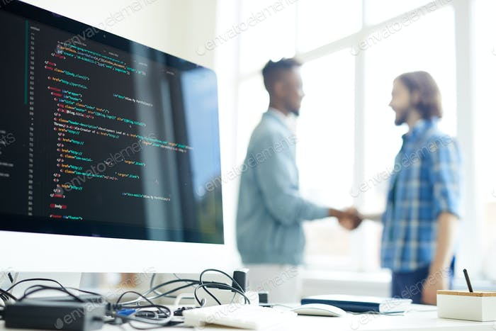 Concluding deal with coding company
