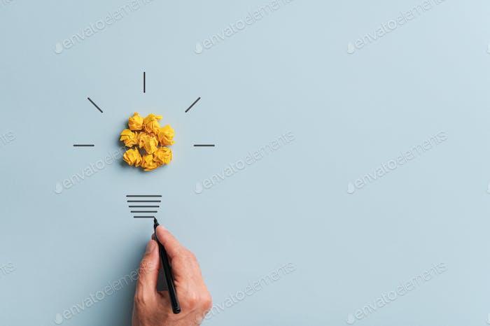 Imagen conceptual de visión e innovación