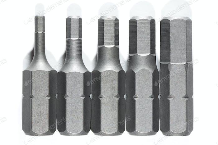 Screwdrive replaceable bits
