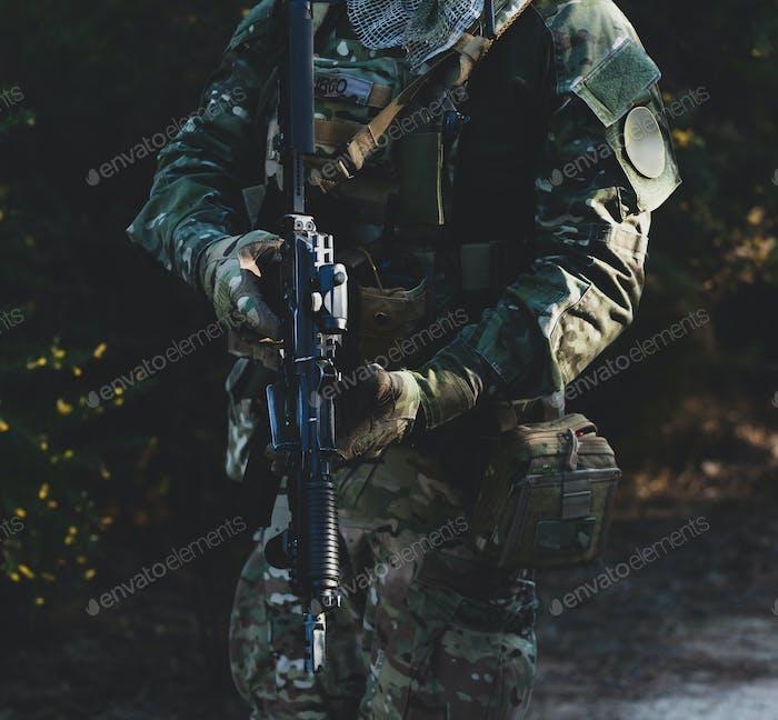 Airsoft Militärspiel