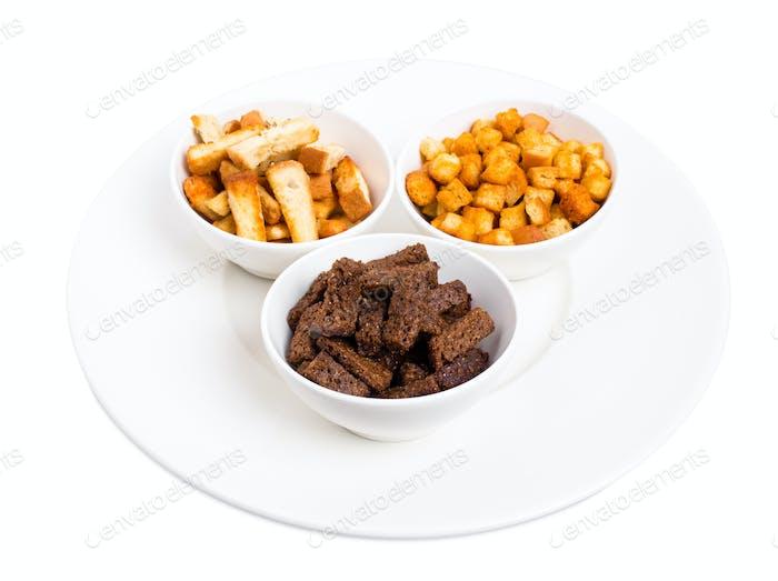 Assorted hard chucks snack.