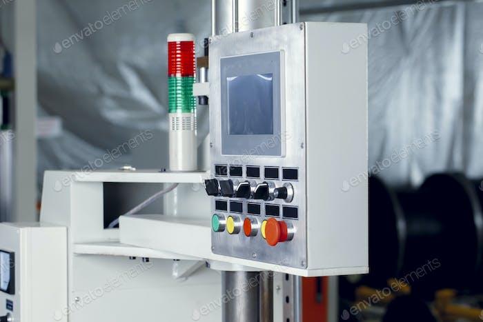 Sistema de panel de control en una fábrica de cables