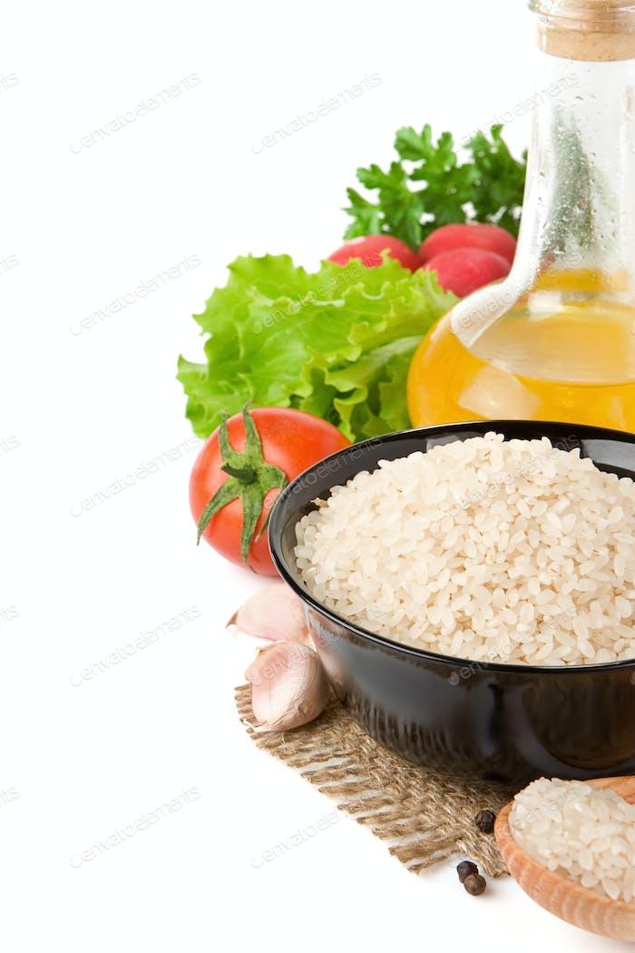 Reihe von Ernährung und gesunde Nahrung auf weißen isoliert