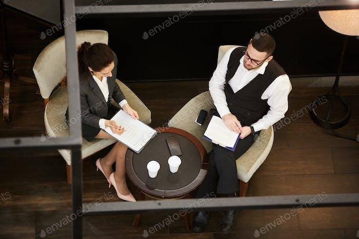 Partners negotiating