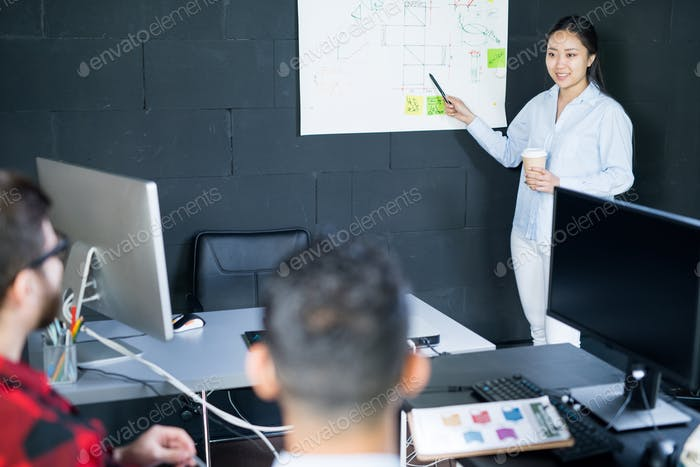 Creative Young Woman Planning Startup Projects