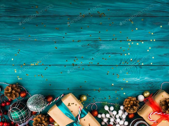 Weihnachts traditioneller dunkelgrüner Hintergrund