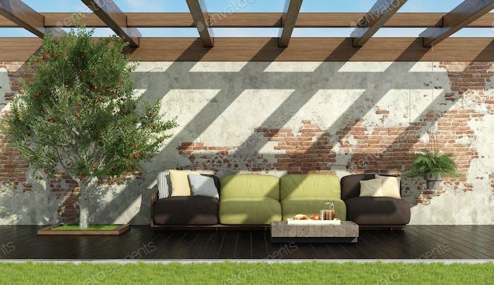 Relax in a retro garden