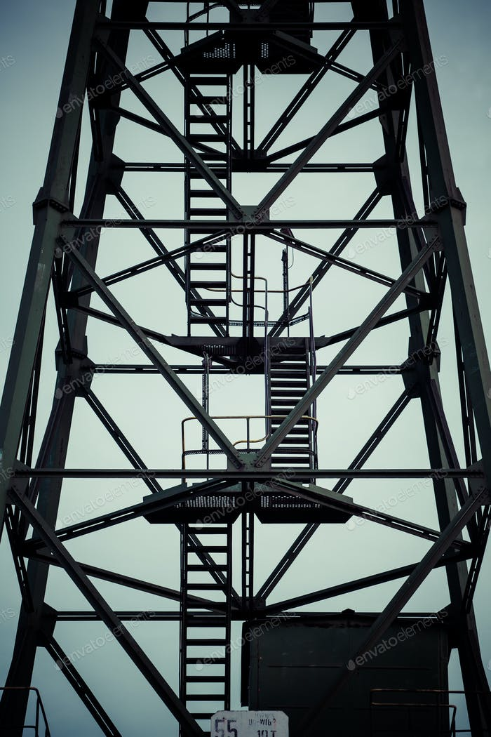 Detail of industrial crane in Gdansk shipyards