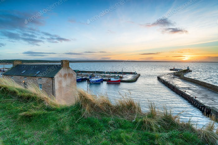 Sunset at Burghead in Scotland