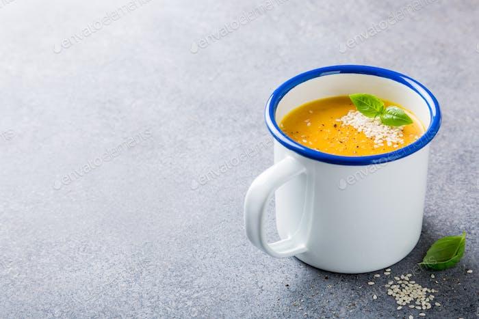 Homemade carrot soup