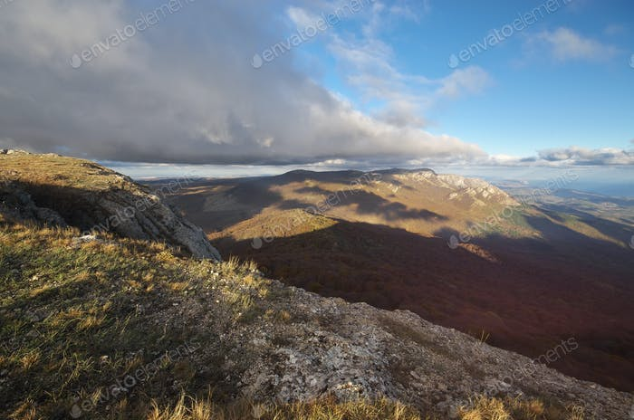 Mountain autumn nature landscape.
