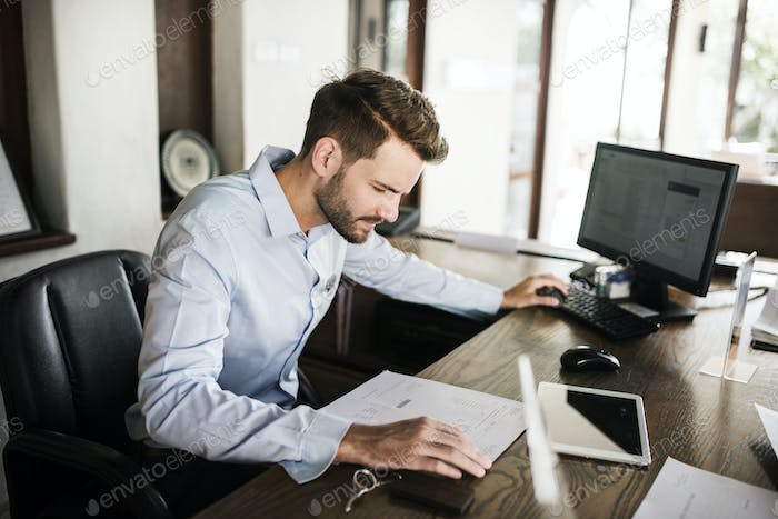Man working in an office