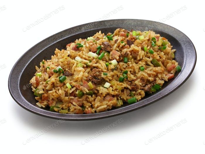 classic cajun dirty rice, southern food