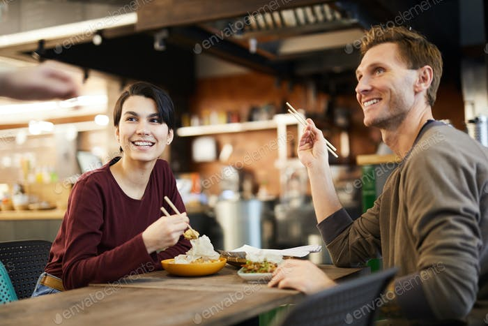 Couple in Chinese Restaurant