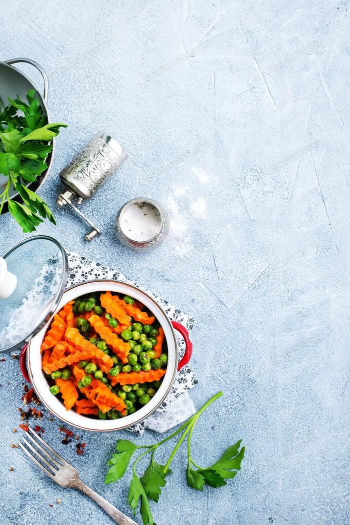 carrot with peas
