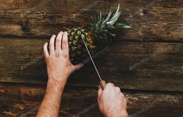 Guy with pineapple