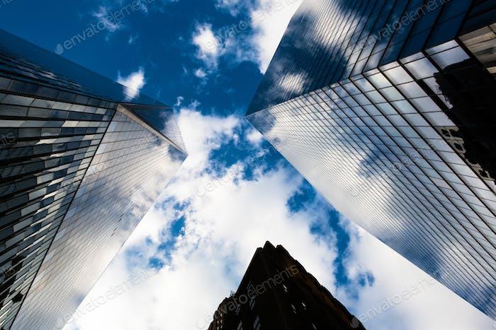 Looking up at Wall Street