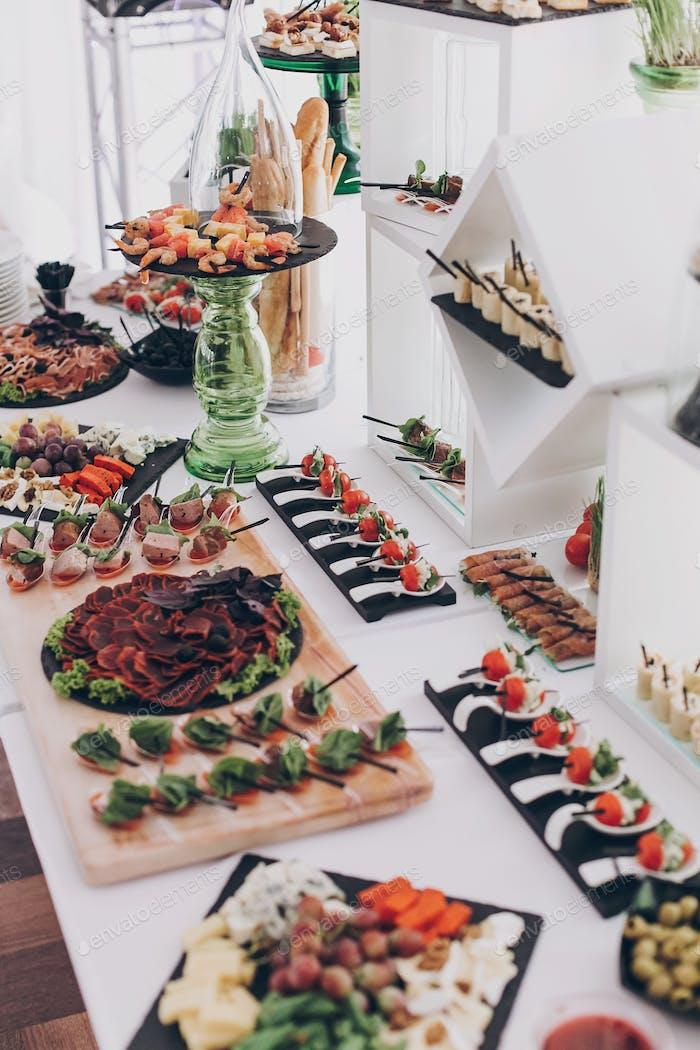 Christmas table feast