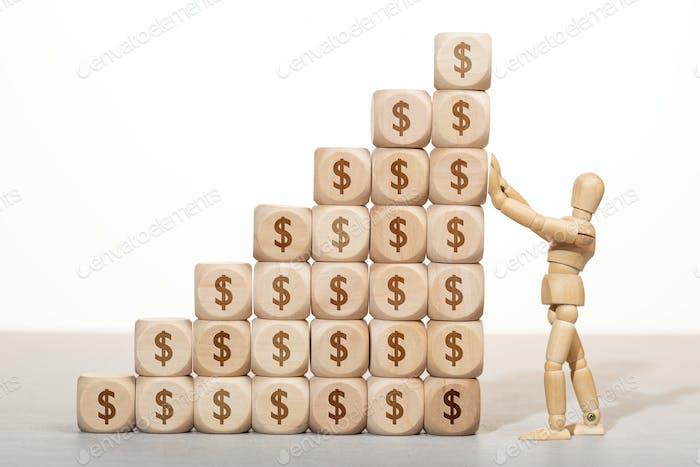 Wachstum, Reichtum oder Reichtum Konzept