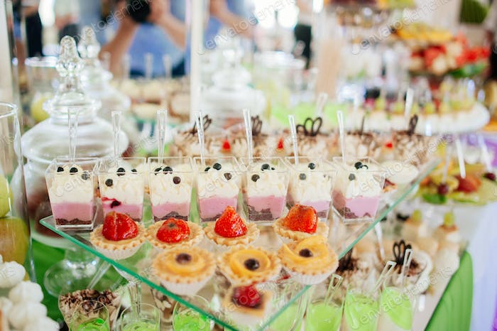 Catering at a luxury event