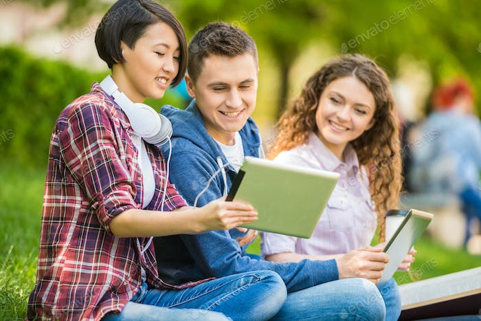 Students outdoors