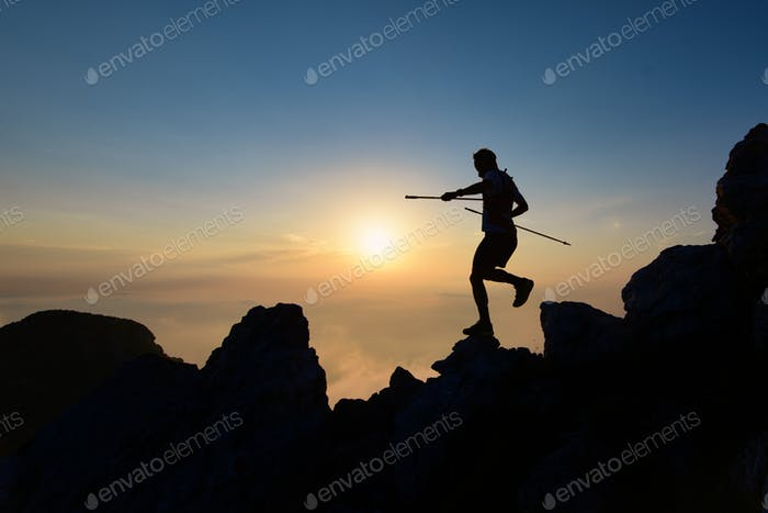Athlete skyrunner