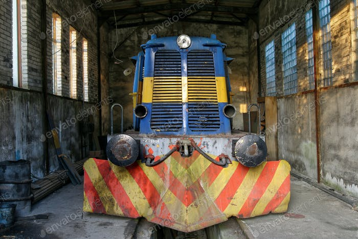 Old abandoned diesel locomotive