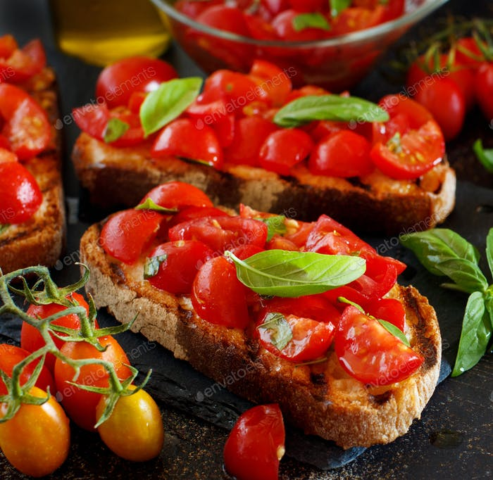Homemade Italian Bruschetta