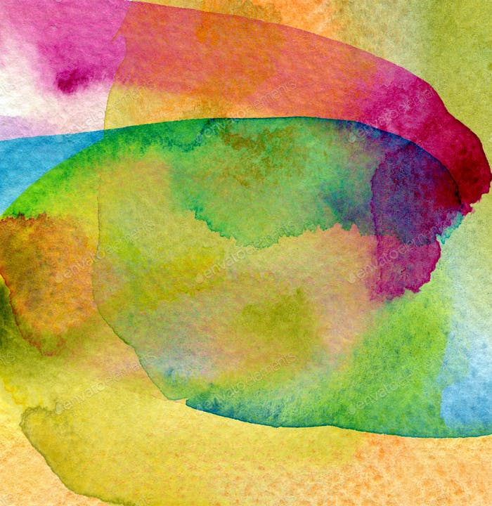 Abstract watercolor painted background.