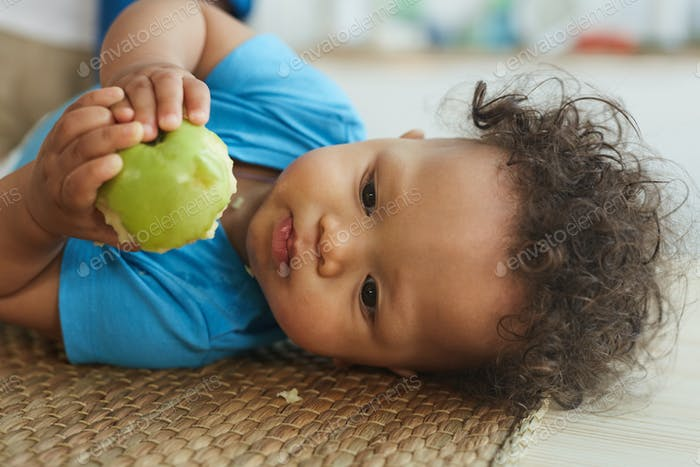 Portrait of Cute African-American Baby