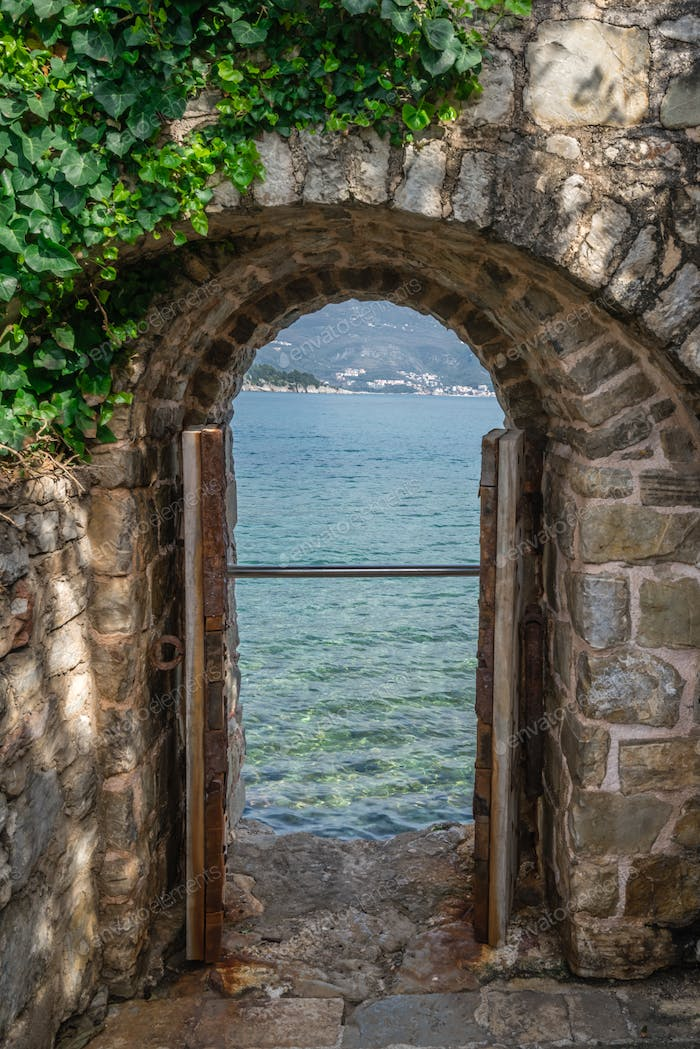 View of the sea from the fortress window