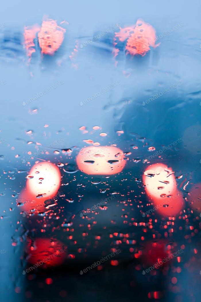 Driving in a rain