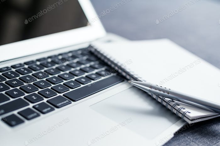 Laptop and note book