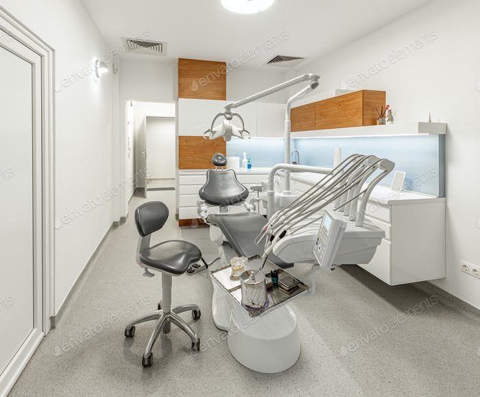Stomatology interior of dental clinic