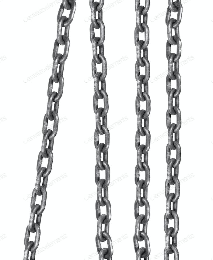 connected flexible series of metal links