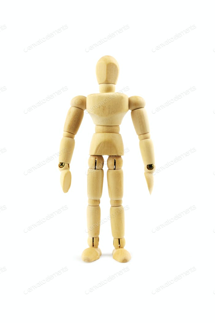 woodem man figure isolated