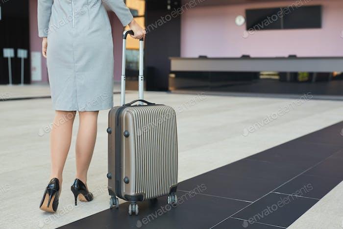 Elegant Businesswoman Traveling