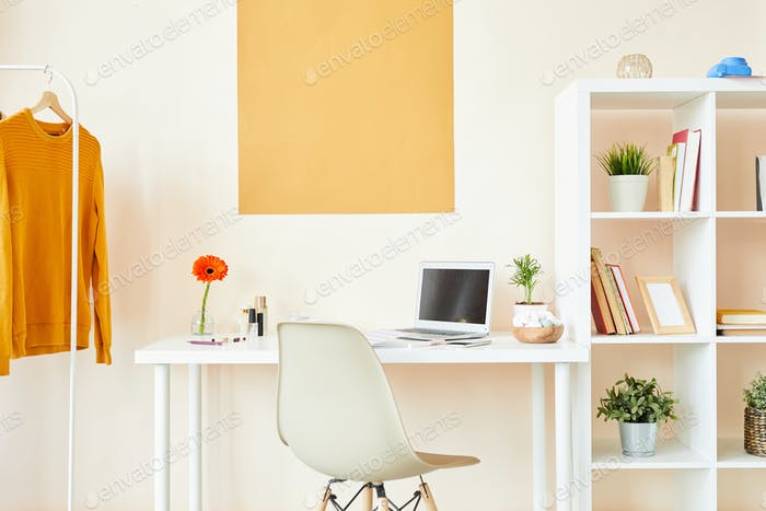 Workplace in studio