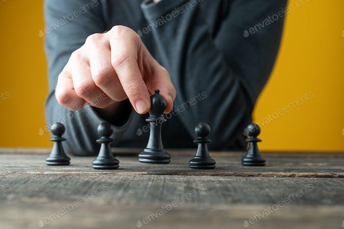 Imagen conceptual de estrategia y poder