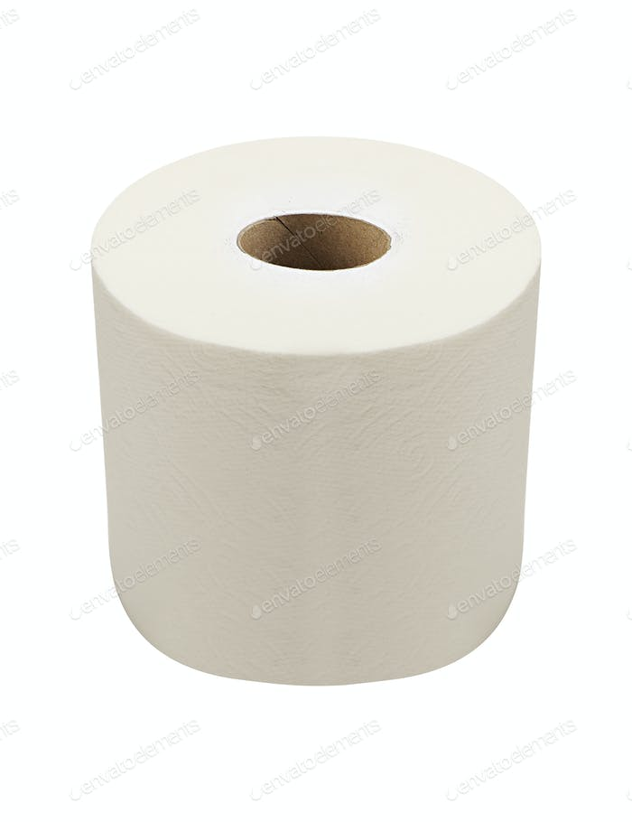 Soft Toilet Paper Isolated