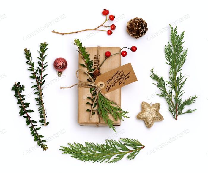 christmas items arrangement