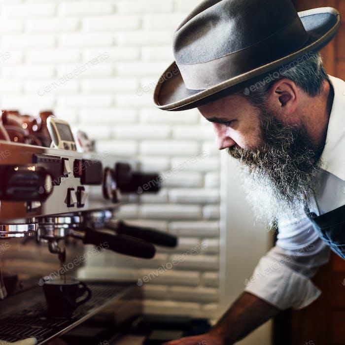 Delantal para café, café, barista, Concepto de cerveza uniforme