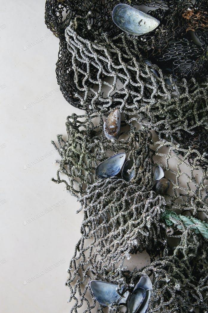 Old sea fishing nets