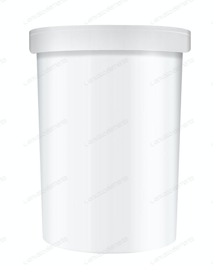 White Tub Paint Plastic Bucket Container