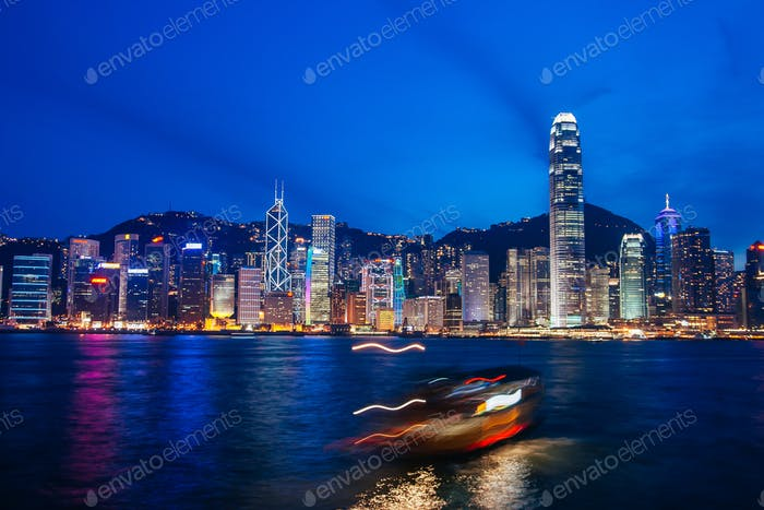 Hong Kong Skyline in Late Afternoon
