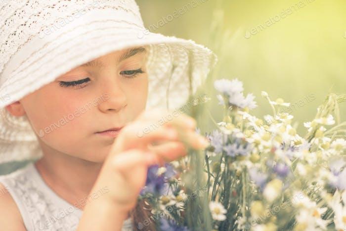 Peaceful Summer Girl Portrait