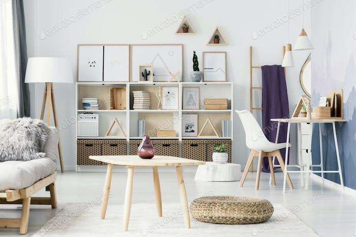White open space interior