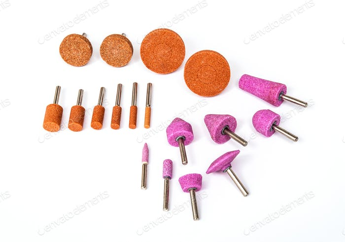 Industrial grinding and polishing drill bits